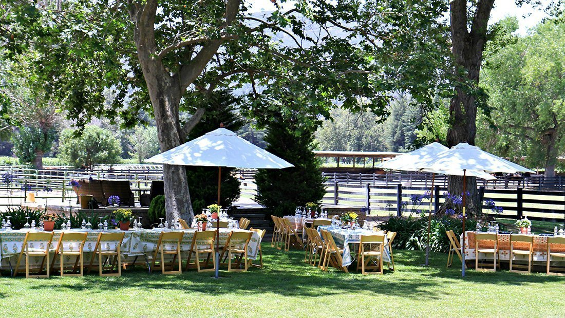 A beautiful setting fro a private tasting and lunch.