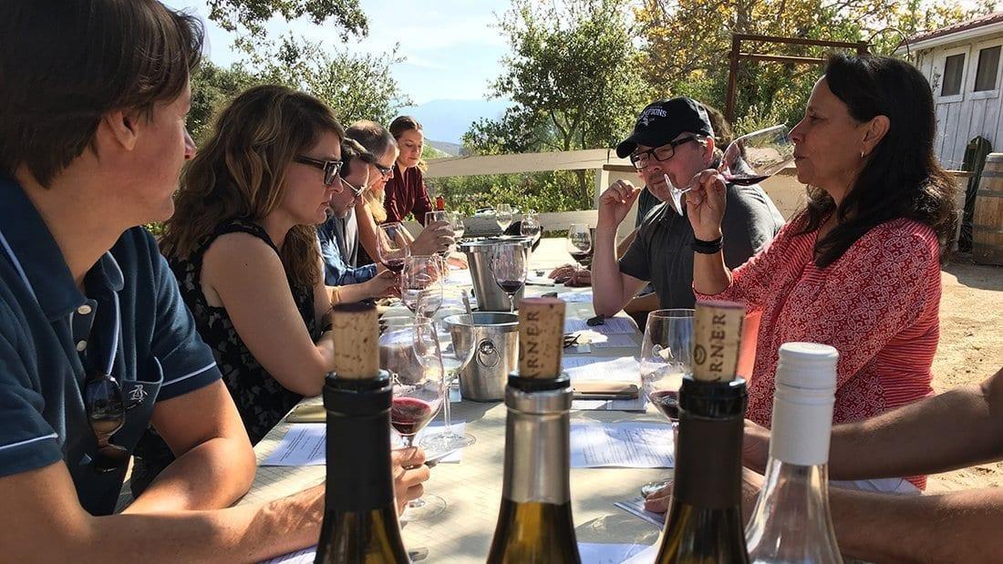 Small intimate wine tasting.