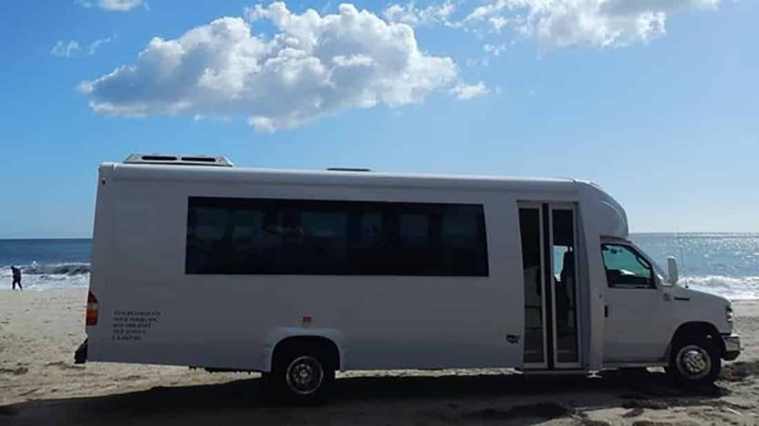 Our mini-coach holds 24 passengers.