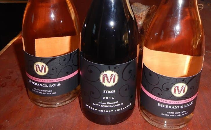 Andrew Murray's syrah and rosé of syrah wines.